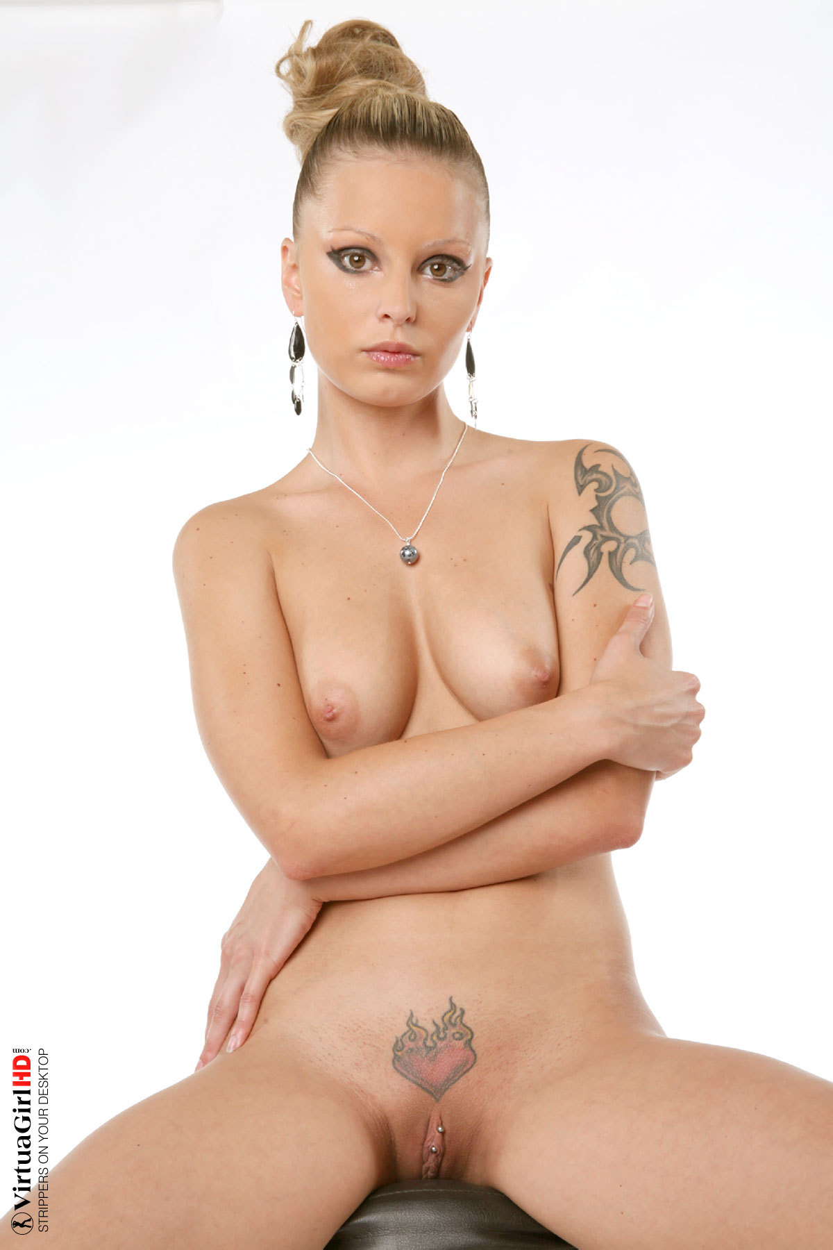 ... Tattoos: over pussy ...